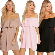 Sexy Women Off Shoulder Dress Fashion Ruffled Collar Sexy PARTY Cocktail Dress