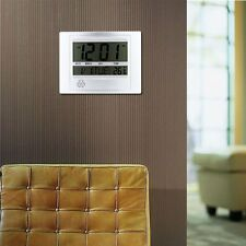 Home Large LCD Digital Calendar Thermometer Alarm Wall Mount/Table Stand Clock F
