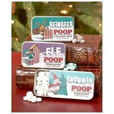 Novelty Mint Tins Set of 3 WINE Sentiment Poop or Holiday Characters Mint Flavor