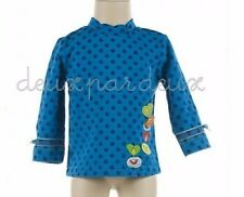 NWT Deux par Deux Fairies Believer Printed blue Jersey Top sizes 2y 5y Style B76