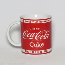 Coca Cola Coke Mug Red Label Collectable Novelty Advertising Cup