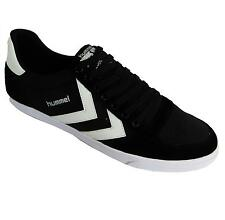 Hummel Slimmer Stadil Low Men's Black & White Slim Low Cut Lace Up Trainers New