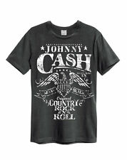AMPLIFIED JOHNNY CASH EAGLES MENS CHARCOAL T SHIRT