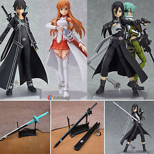 Anime Sword Art Online II Sinon Asuna Kirito PVC Action Figures Figma Toys Lot