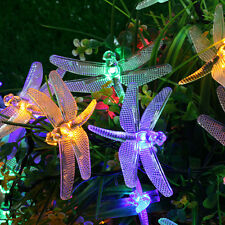 Outdoor Solar LED String Lights 5M 20 Leds Dragonfly Christmas Fairy String