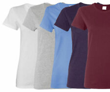 Gildan WOMEN T-SHIRTS BLANK BULK LOT Any Color Buyer Choice Plain S-XL Wholesale