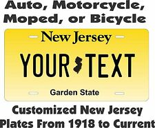 New Jersey Tag Personalized Auto Car Motorcycle Moped Bike Bicycle License plate