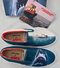 8 Sperry Top-Sider x Jaws Striper Slip On Shark Attack Boat Shoe Movie Poster x1