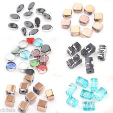 Wholesale 20Pcs Mixed Crystal Glass Silver Silk Plated Loose Spacer Charm Beads