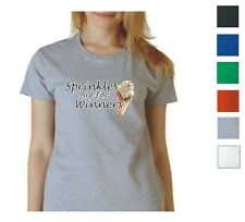 Sprinkles Are For Winners Ladies T-Shirt, 100% Preshrunk Cotton