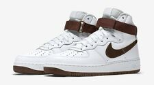 Nike Air Force 1 Hi Retro QS Mens Size Shoes White Chocolate Brown 743546 102