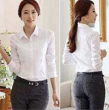 Blouse Long Sleeve Shirt White Shirt New Top Stylish Women's Hot Spring/Summer