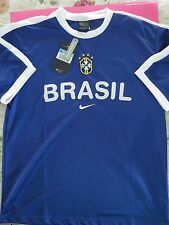 BNWT BRAZIL BRASIL CBF 2001 SS TRAINING Football Jersey Shirt Men's Sizes
