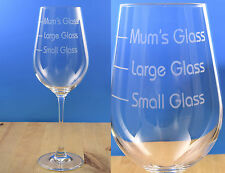 Personalised Engraved Wine Glass Fine Crystal Drinks Measure Glass Mum Gift