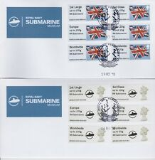RN Submarine Kiosk A004 Post & Go Faststamp Undated Flag and Machin FDC