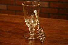 ONE LA ROCHERE PONTARLIER ABSINTHE GLASS, PLUS A WORMWOOD ABSINTHE SPOON