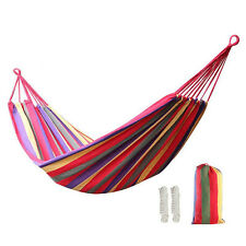Outdoor Swing Chair Hanging Bed Camping Patio Yard Tree Canvas Hammock Carry Bag