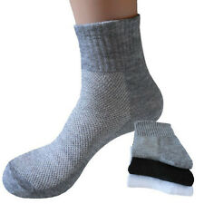 5Pairs Men's Soft Cotton Middle Socks Durable Sport Everyday Casual Dress Socks