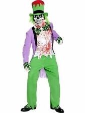 Bad Hatter Alice In Wonderland Mad Mens Halloween Fancy Dress Costume Outfit