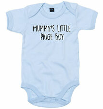 PAIGE BOY BODY SUIT PERSONALISED MUMMY'S LITTLE BABY GROW NEWBORN GIFT