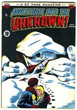 """Adventures into the Unknown #9  VG+  1950   """"strict grading"""" / """"1 day shipping"""""""