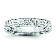 Sterling Silver Sterling Silver Belle Amore Diamond Wedding Band Ring QR3466