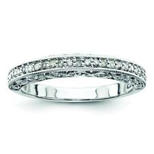 Sterling Silver Sterling Silver Belle Amore Diamond Wedding Band Ring QR3488