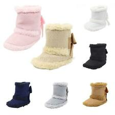 Newborn Baby Toddler Warm Snow Booties Kid Soft Sole Baby Boots Crib Shoes 0-18M