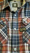 ****quality Mens G-Star Raw Check Shirt Size Large. Amazing. Popper fastening**