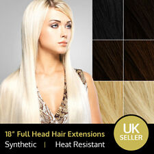 "18"" Fabulous Full Head Heat Resistant Synthetic Hair Extensions"
