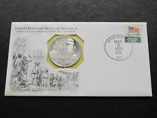 Delaware First Edition Proof FDC Silver Medal Franklin Mint A6620