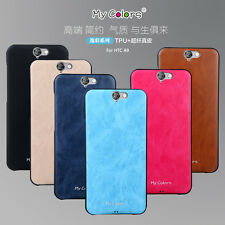 Luxury Case For HTC One A9 Cover Soft TPU Silicone Leather Hybrid Slim Armor