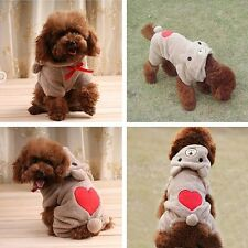 New Dog Outfits-Cute Bear Costume Jumpsuit Hoodie Clothes Apparel for Dog Pet