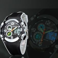 OHSEN Men's Digital Analog LCD Date Day Alarm Army Quartz Sport Waterproof Watch