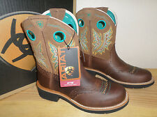 NEW ARIAT Fatbaby Cowgirl Powder Brown Tan COWBOY BOOTS WOMENS 7.5 8 9.5 NIB