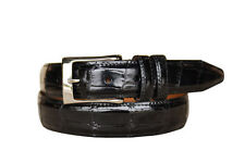 Lejon Men's Catania Handcrafted From Luxury  Grain Leather Black Belts 15771