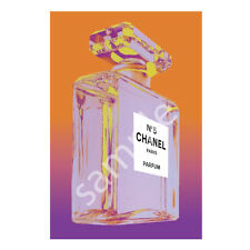 Chanel No.5 No5 Perfume Bottle Art Print Poster Canvas Orange Purple (pint)