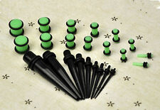 23 Pcs Ear Taper+ PLUG Kit 14G-00G 1.6mm-10mm Gauges Hot Expander Set Stretchers