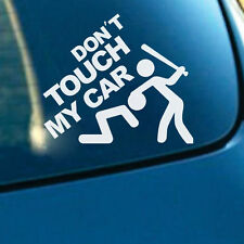 Don't Touch My Car Auto SUV Window Rear Trunk Fenders Reflective Decal Sticker