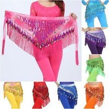 Belly Dance Coin Belt Hip Scarf Skirt Wrap Women Party Dancing Costume Waistband