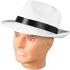 Adult White Fedora Gangster Hat