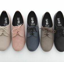 BN Women's Classic Lace Up Oxford Flats Boots Booties Dress Casual Walking Shoes