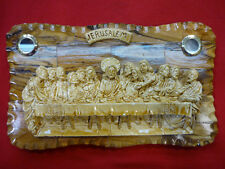 "Last Supper Olive Wood Plaque 7.5"" Hand Made In Bethlehem Holy Land"