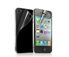 4PCS=2X Front+Back Clear HD Screen Protector Cover Guard Film for Iphone4 5 6