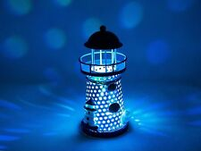 Ornament Nautical Ocean Metal Lighthouse Changing LED Light Night Tabletop Decor