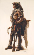 James Bama Northern Cheyenne Wolf Scout Canvas Giclee