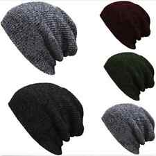 Soft Men Women  Knit Baggy Beanie Winter Hat Ski Slouchy Chic Knitted Cap Skull