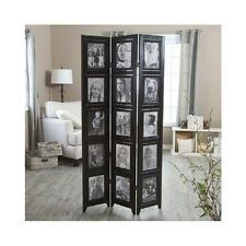 """Sturdy Wooden Photo Frame Room Divider 3 Panels Holds 8""""X10"""" Photos Double Sided"""