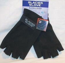 Alaska River Glacier Windproof Fleece Lined Neoprene Palm Fingerless Gloves