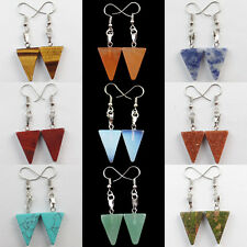 Mixed Gemstone Triangle Necklace Earrings Set Or Earrings Choose Your Type H131